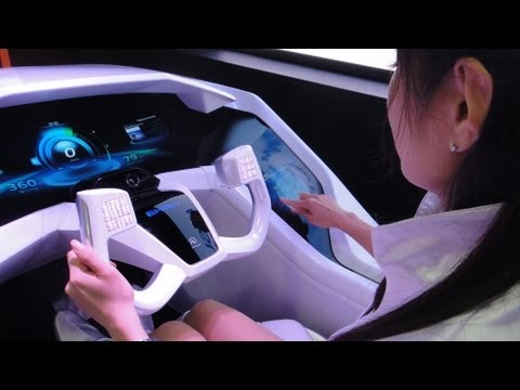 Near-future Car Interface Technology - Mitsubishi EMIRAI #DigInfo