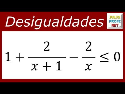 Solución de una desigualdad racional