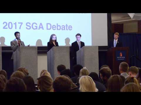 The Auburn SGA holds debates for the position of Vice President for the 2017 year on Monday, Feb. 6, 2017 in Auburn, Ala.