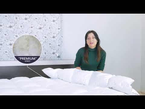 """Пуховое кассетное одеяло """"Raffaello"""" белый пух №062 (Зимнее)"""