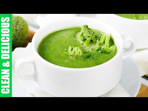 Clean Eating Broccoli Stem Soup Recipe | Clean & Delicious