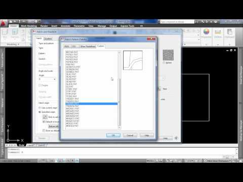 AutoCAD Aula 20: Como instalar novas hachuras no AutoCAD