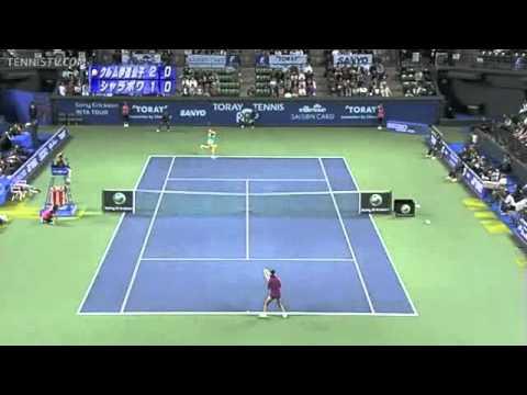 Kimiko Date Krumm vs Maria Sharapova PPO 1Rd 2010