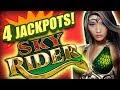 4 JACKPOT HANDPAYS! 💰Sky Rider Slot Wins! 💰The Big Jackpot | The Big Jackpot