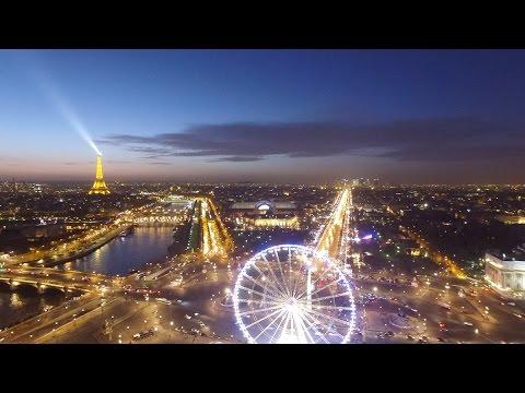 drone DJI Phantom 3 , Paris by night