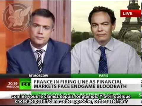 Max Keiser - World is witnessing financial WWIII - 11 aug 2011 (french sub)