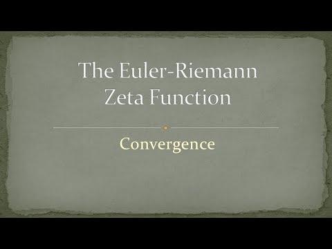 Zeta Function - Part 1 - Convergence
