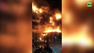 Пожар в торговом центре в Грозном (20.09.2019 09:41)