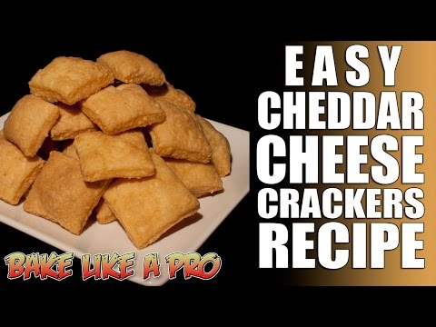 Cheddar Cheese Crackers Recipe - Only 3 Ingredients !