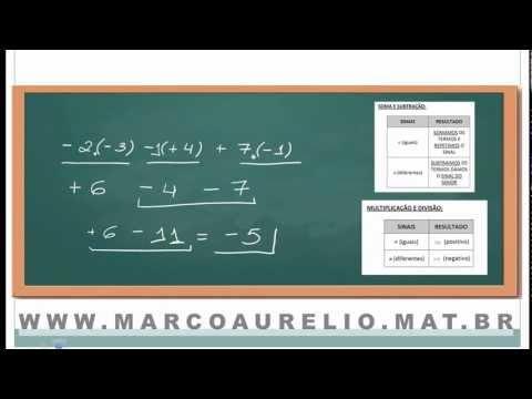 MATEMATICA BASICA -  AULA 01 - REGRA DE SINAIS - PROF. MARCO AURELIO