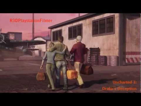 Uncharted 3: Drakes Deception Cutscenes - Ending of the Game