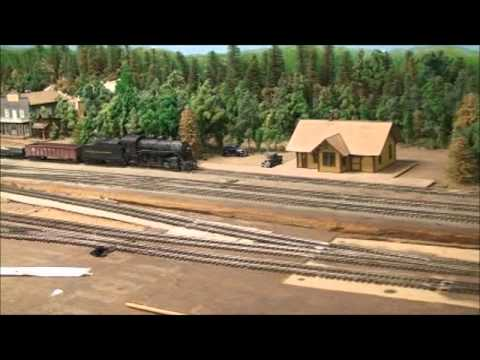 Large HO Scale Model Train Layout pt2