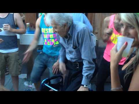 Old Man Party With Youngsters