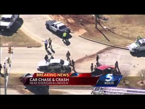 High-speed chase ends in multi-vehicle crash