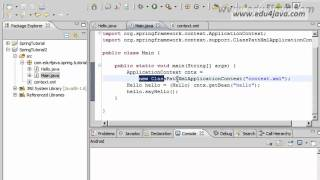 Spring Framework 3 Installation and Hello Word Video Tutorial.