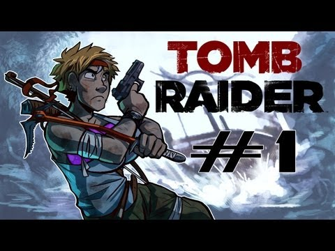 Raiding Tombz - Tomb Raider Hard Difficulty Gameplay Walkthrough w/ SSoHPKC Part 1 - A Series of Unfortunate Events