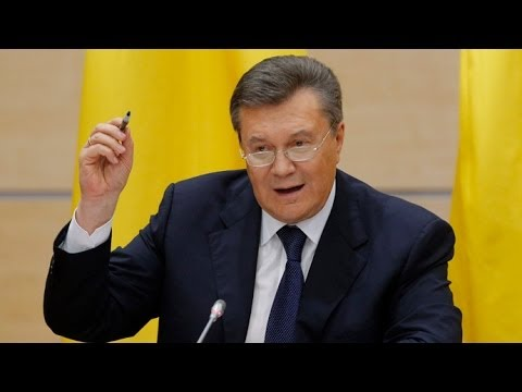 Ousted Yanukovich talks to press in (Russia)