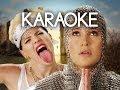 [KARAOKE ♫] Miley Cyrus Vs Joan Of Arc. Epic Rap Battles Of History. [INSTRUMENTAL]