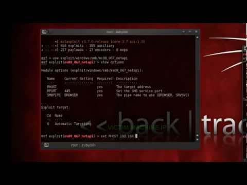 Exploiting windows xp with BackTrack 5 using metasploit
