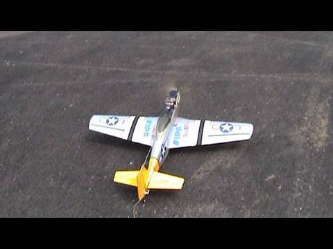 My Old RC P51 Mustang after 4Cell Lipo Mod - alishanmao