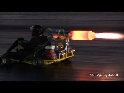 Jet Engine Go Kart with Afterburner