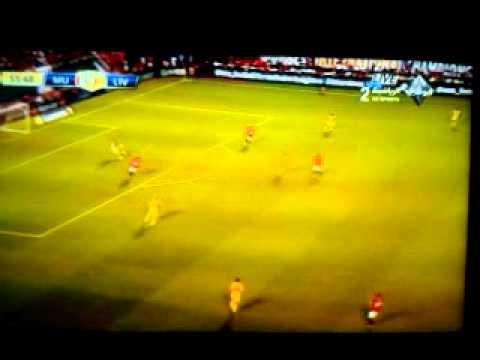 هدف مانشتر يونايتد الأول على لفربول - واين روني / كأس الأبطال الودية
