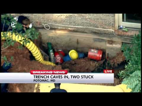 2 men trapped after trench collapse in Potomac, Md.