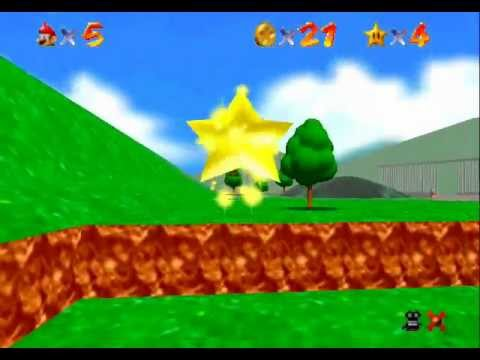 Super Mario 64 - Star Touchdown Niceshot - SM64 HD.wmv - User video