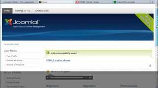 How to use the HTML5 audio player in the JoomlaCKEditor?
