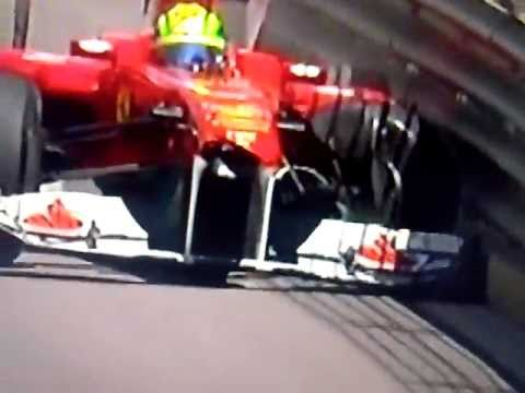 Formula 1 2011 Monaco Crash:Hamilton - Massa