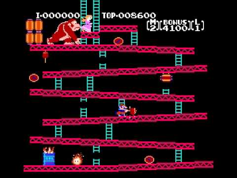 Donkey Kong - Donkey Kong High Score Attempt (NES) - Vizzed.com Play - User video