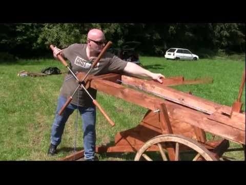As big as a car: Huge Slingshot Cannon in Action