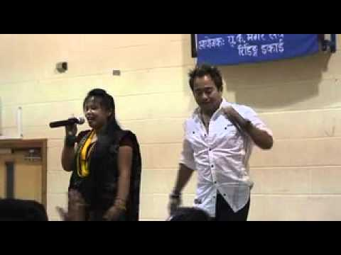 RAMJI KHAND & MUNA  THAPA   LIVE                             VIDEO BY, JL GURUNG, READING,UK.