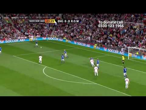 Soccer AID 2010 FULL MATCH england vs rest of the world part3