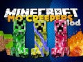 Minecraft Mod - ELEMENTAL CREEPERS MOD - NEW DEADLY CREEPERS