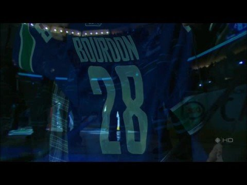 Luc Bourdon Tribute - Canucks Game #1 [10/09/08]