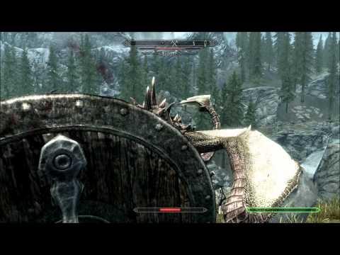 OMFG - Skyrim - Horse vs Dragon EPIC!