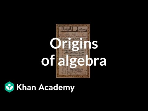 Origins of Algebra