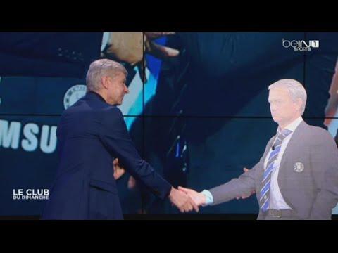 فيديو: فينغر ينهي خلافه مع مورينيو على الهواء مباشرة بطريقة غريبة