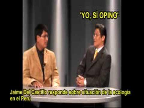 JAIME DEL CASTILLO ENTREVISTADO POR LA UPC (UNIV PER CC APLICDS) SOBRE SITUACION ECOLÓGICA DEL PERU