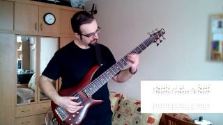 Skyrim Theme - bass cover with tab by Medawk