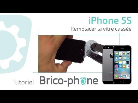 Tuto : Changer la vitre cassée Iphone 5S démontage + remontage HD poster