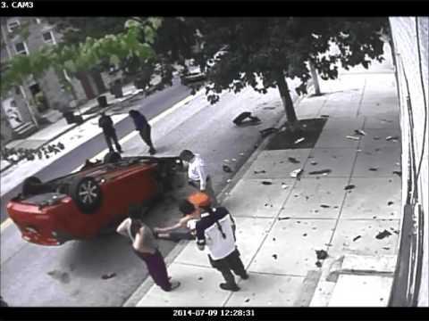شاهد سائق تحت تأثير المخدرات يتسبب في حادث مروع على إحدى طرق مدينة نيويورك الأمريكية
