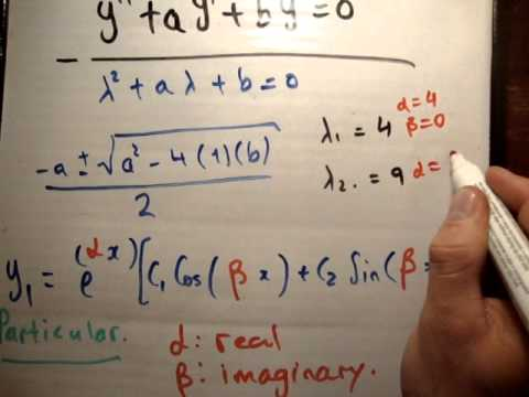 General solution to second order linear differential equation