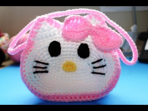 "Bolista en crochet inspirada por ""Hello Kitty"" (Subtitles in English) - Video 2"