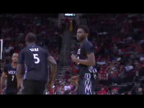 Andrew Wiggins Slams Home Powerful Two-Handed Jam