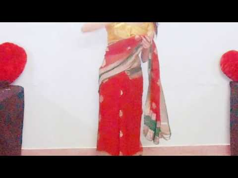 New Innovation From Moms Old Wedding Banarsi Saree-How To Wear Sari/Saree/New Way
