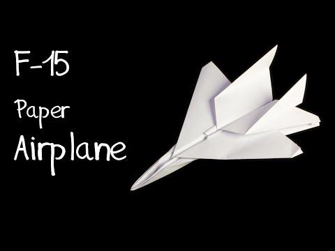 How to make an F15 Jet Fighter Paper Plane (Tadashi Mori)