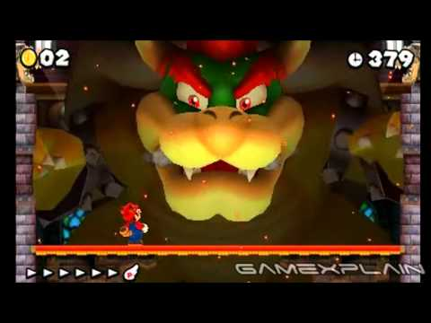 New Super Mario Bros 2: Final Bowser Boss Battle (HD Quality - Spoilers!)