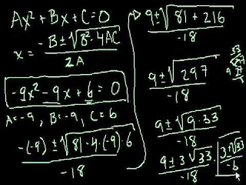 Equazione Quadratica Parte 2